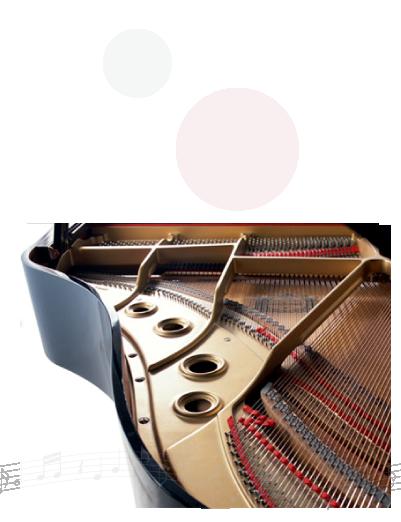 年月がたって汚れてしまったピアノを新品のようにクリーンングします。